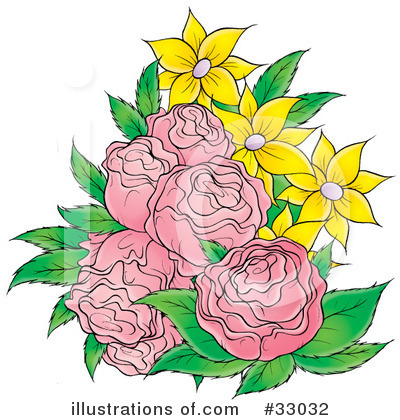 Royalty-Free (RF) Flowers Clipart Illustration by Alex Bannykh - Stock Sample #33032