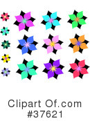Royalty-Free (RF) Flowers Clipart Illustration #37621