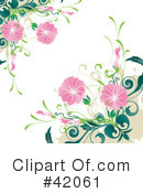 Royalty-Free (RF) Flowers Clipart Illustration #42061