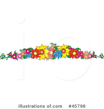 Flowers Clipart #45796 by Pams Clipart