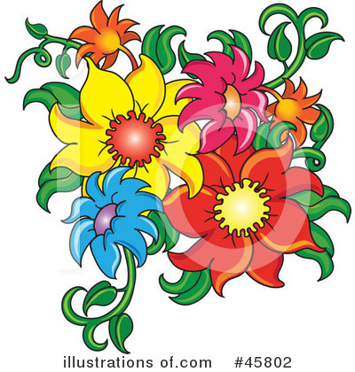 Flowers Clipart #45802 by Pams Clipart