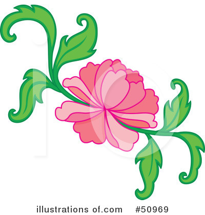 Floral Clipart #50969 by Cherie Reve