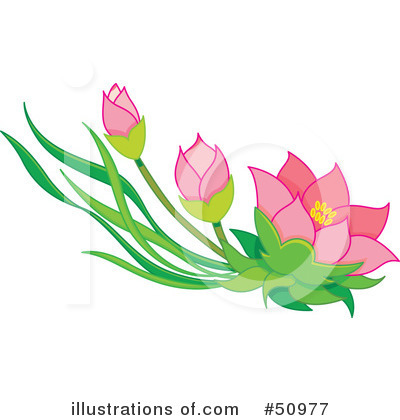 Floral Clipart #50977 by Cherie Reve