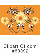 Royalty-Free (RF) Flowers Clipart Illustration #60092