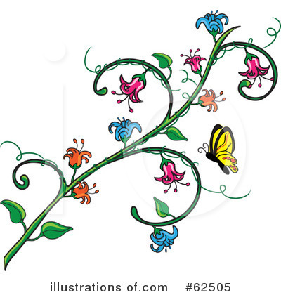 Flowers Clipart #62505 by Pams Clipart