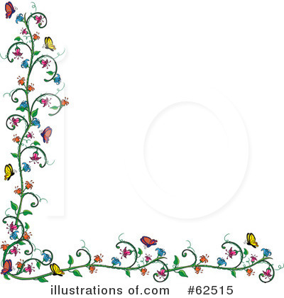 Royalty-Free (RF) Flowers Clipart Illustration by Pams Clipart - Stock Sample #62515