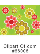 Royalty-Free (RF) Flowers Clipart Illustration #66006