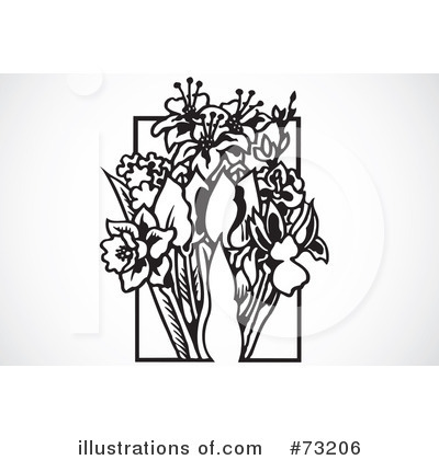 Royalty-Free (RF) Flowers Clipart Illustration by BestVector - Stock Sample #73206