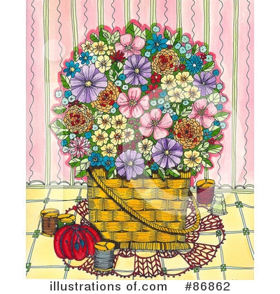 Royalty-Free (RF) Flowers Clipart Illustration by Maria Bell - Stock Sample #86862