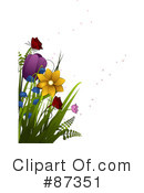 Royalty-Free (RF) Flowers Clipart Illustration #87351