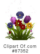 Royalty-Free (RF) Flowers Clipart Illustration #87352