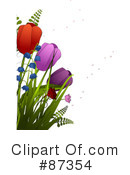 Royalty-Free (RF) Flowers Clipart Illustration #87354