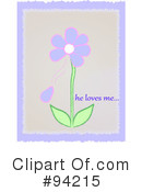 Flowers Clipart #94215 by Pams Clipart