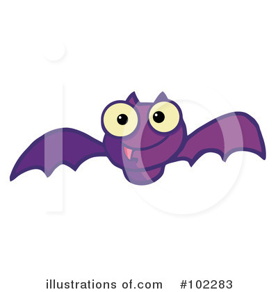 Flying Bat Clipart #102283 by Hit Toon