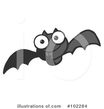 Flying Bat Clipart #102284 by Hit Toon