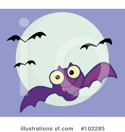 Flying Bat Clipart #102285 by Hit Toon