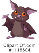 Royalty-Free (RF) Flying Bat Clipart Illustration #1118604