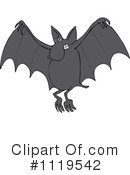 Royalty-Free (RF) Flying Bat Clipart Illustration #1119542