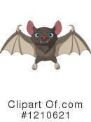 Flying Bat Clipart #1210621 by Pushkin