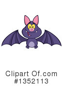 Royalty-Free (RF) Flying Bat Clipart Illustration #1352113