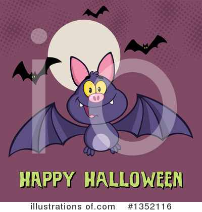 Flying Bat Clipart #1352116 by Hit Toon