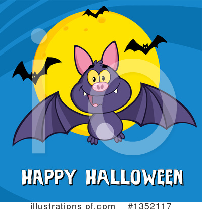 Flying Bat Clipart #1352117 by Hit Toon