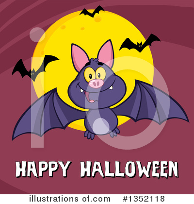 Flying Bat Clipart #1352118 by Hit Toon