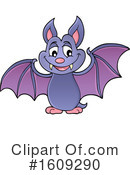 Flying Bat Clipart #1609290 by visekart