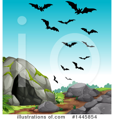 Flying Bat Clipart #1445854 by Graphics RF