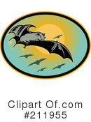 Flying Bats Clipart #211955