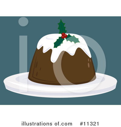 Christmas Pudding Clipart #11321 by AtStockIllustration