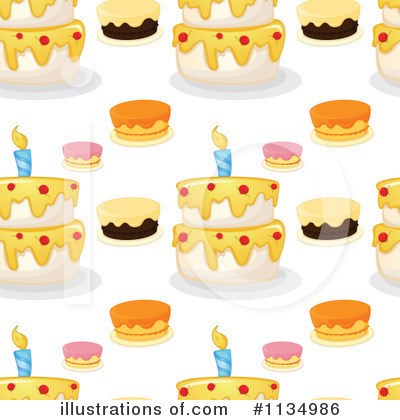 Birthday Cake Clipart #1134986 by Graphics RF