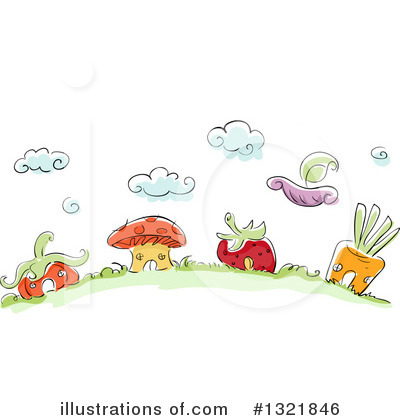 Mushroom Clipart #1321846 by BNP Design Studio