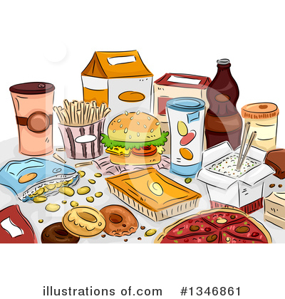 Fast Food Clipart #1346861 by BNP Design Studio