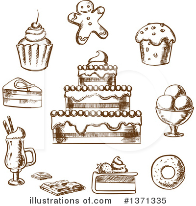 Milkshake Clipart #1371335 by Vector Tradition SM