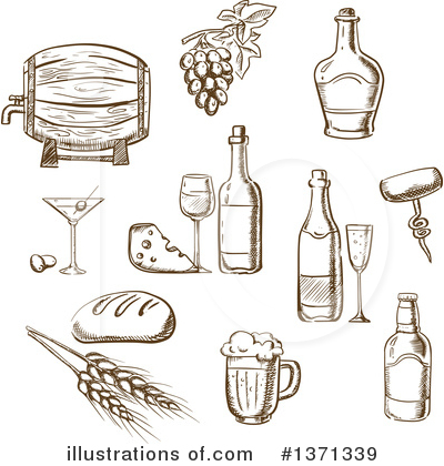 Winery Clipart #1371339 by Vector Tradition SM