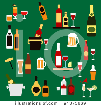 Wine Clipart #1375669 by Vector Tradition SM