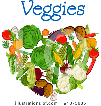 Vegetarian Clipart #1375685 by Vector Tradition SM