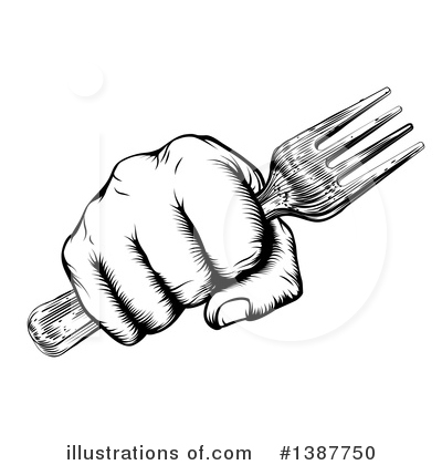 Cutlery Clipart #1387750 by AtStockIllustration