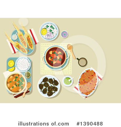 Casserole Clipart #1390488 by Vector Tradition SM