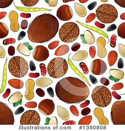 Coffee Beans Clipart #1390808 by Vector Tradition SM