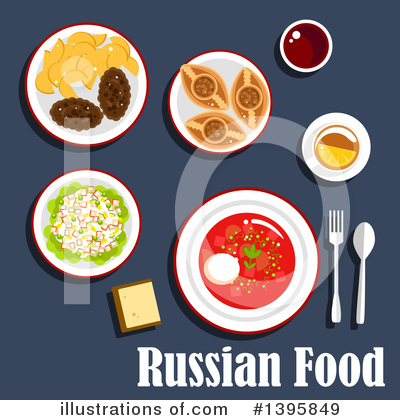 Royalty-Free (RF) Food Clipart Illustration by Vector Tradition SM - Stock Sample #1395849