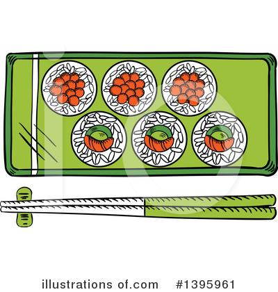 Sushi Clipart #1395961 by Vector Tradition SM