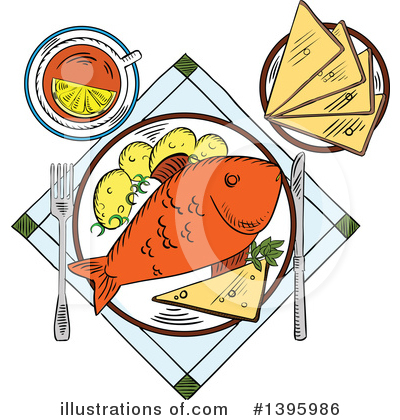 Royalty-Free (RF) Food Clipart Illustration by Vector Tradition SM - Stock Sample #1395986