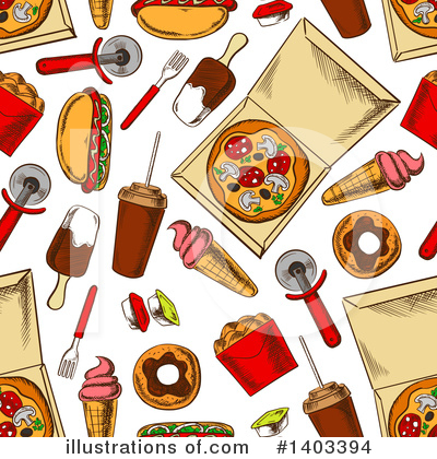 Pizza Clipart #1403394 by Vector Tradition SM