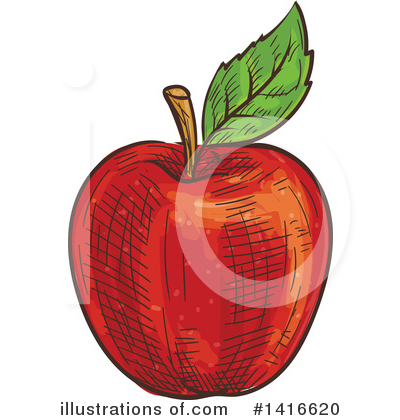 Apple Clipart #1416620 by Vector Tradition SM