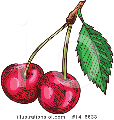 Cherry Clipart #1416633 by Vector Tradition SM