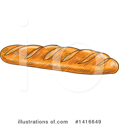 Bread Clipart #1416649 by Vector Tradition SM
