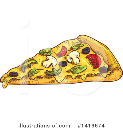 Pizza Clipart #1416674 by Vector Tradition SM