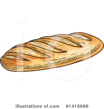 Bread Clipart #1416686 by Vector Tradition SM